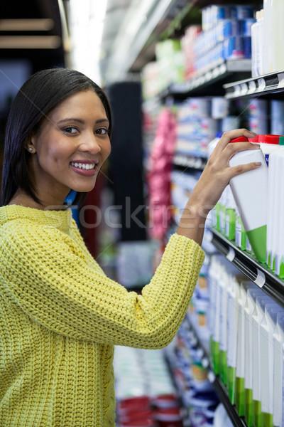 女性 買い ミルク 乳製品 セクション 肖像 ストックフォト © wavebreak_media