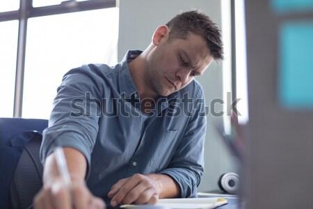 Masculino enfermeira sessão escada hospital homem Foto stock © wavebreak_media