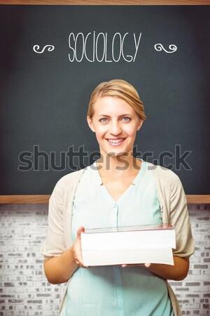 学習 黒板 教室 女性 セクシー 幸せ ストックフォト © wavebreak_media