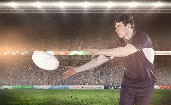 Obraz rugby gracz strona Zdjęcia stock © wavebreak_media