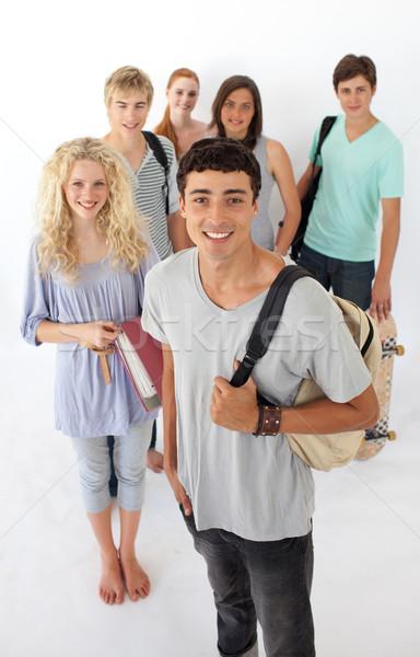 Teenagers going through the high school Stock photo © wavebreak_media