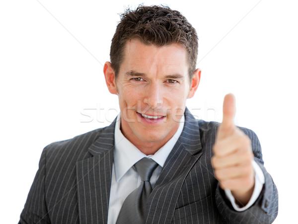 Assertive businessman with a thumb up  Stock photo © wavebreak_media