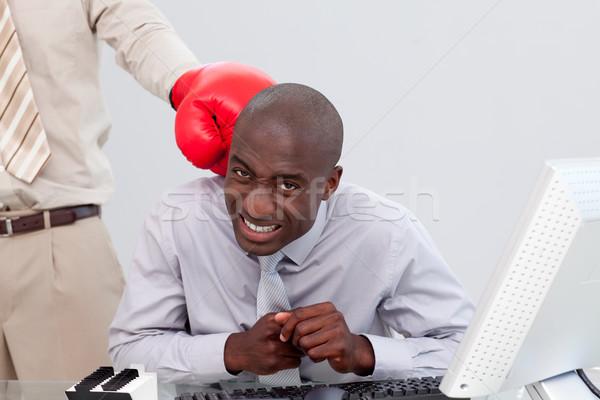 Biznesmen działalności strony pracy wykonawczej pracownika Zdjęcia stock © wavebreak_media
