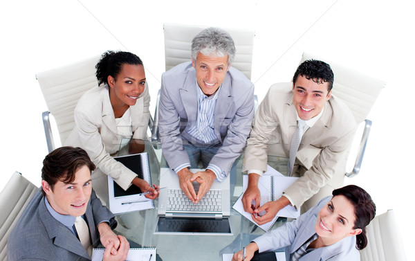 High angle of a multi-ethnic business team in a meeting Stock photo © wavebreak_media