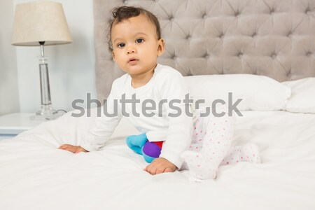 Little boy holding a terrestrial globe Stock photo © wavebreak_media