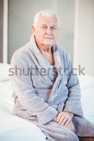 Portrait of a senior woman with a neck brace sitting on a wheelc Stock photo © wavebreak_media