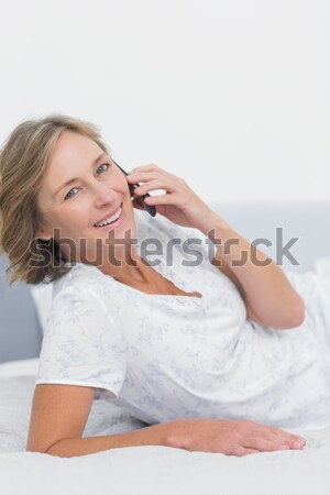 Atendimento ao cliente agente fone sorridente escritório Foto stock © wavebreak_media