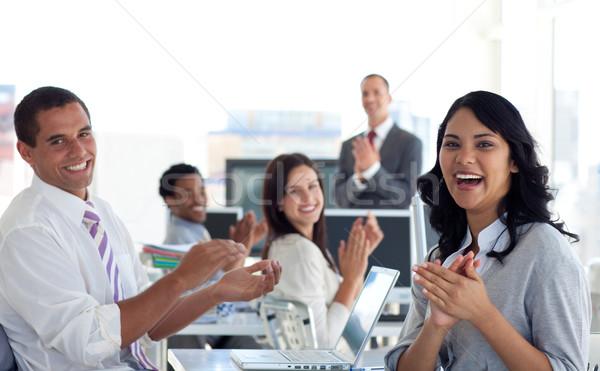 üzleti csapat tapsol sikeres projekt iroda üzlet Stock fotó © wavebreak_media