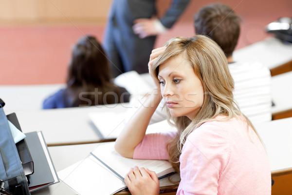 Portre sıkılmış kadın öğrenci üniversite ders Stok fotoğraf © wavebreak_media