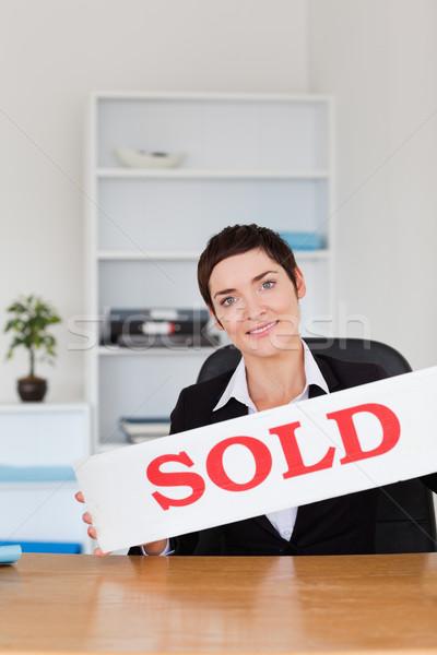 портрет проданный панель служба домой Сток-фото © wavebreak_media