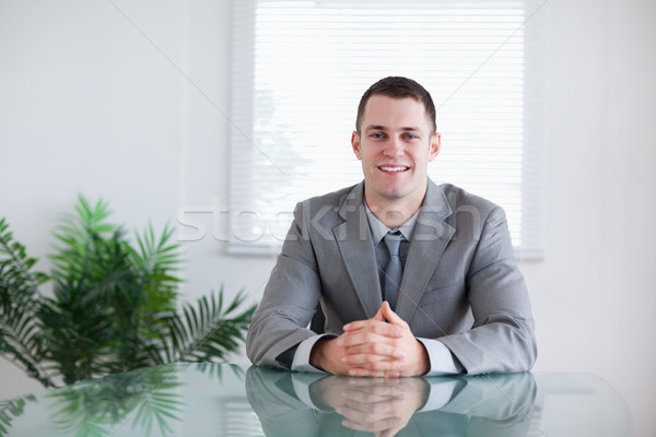 Young businessman in a successful negotiation Stock photo © wavebreak_media