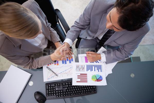 üzleti csapat üzlet tárgyalóterem megbeszélés üzletember monitor Stock fotó © wavebreak_media