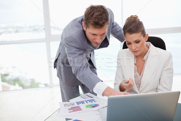 Business team working on poll results together Stock photo © wavebreak_media