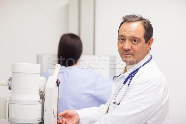 Medico macchina paziente stanza donna Foto d'archivio © wavebreak_media