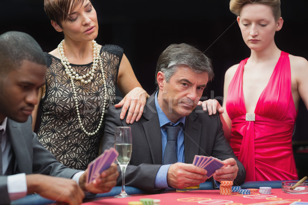 Man playing poker is angry in casino Stock photo © wavebreak_media