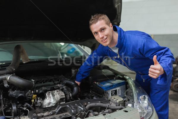 Monteur auto portret werknemer Stockfoto © wavebreak_media