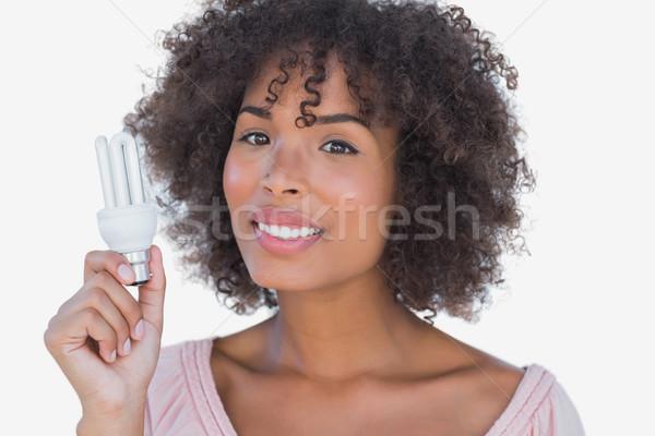 幸せ 女性 エネルギー 電球 ストックフォト © wavebreak_media