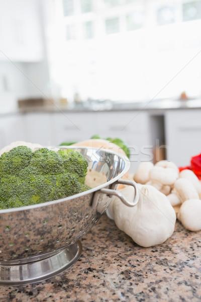 Friss zöldségek pult otthon konyha ház életstílus Stock fotó © wavebreak_media
