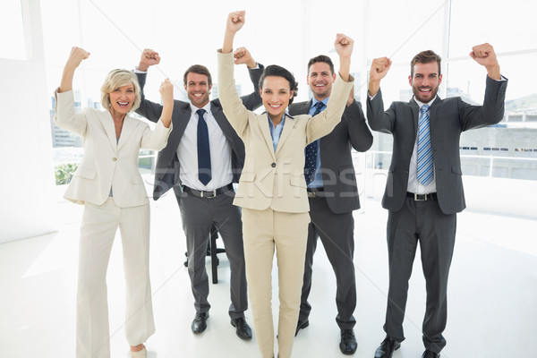 Di successo squadra di affari ritratto luminoso ufficio imprenditore Foto d'archivio © wavebreak_media