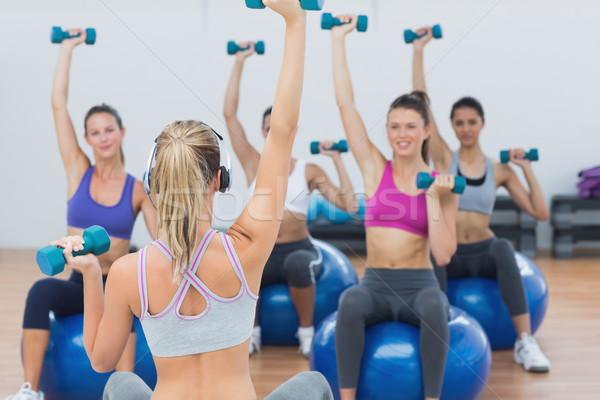 Classe halteres fitness caber Foto stock © wavebreak_media