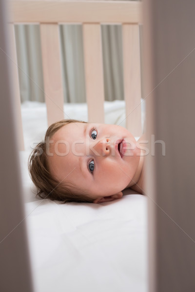 Portrait of baby in crib Stock photo © wavebreak_media