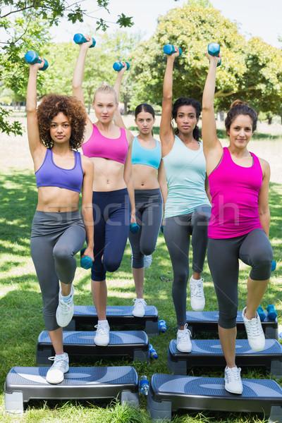 女性 ステップ エアロビクス 公園 ストックフォト © wavebreak_media