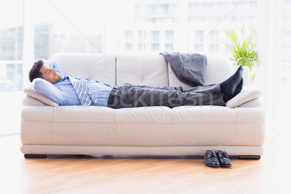 Moe zakenman slapen sofa kantoor business Stockfoto © wavebreak_media