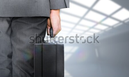 Empresário pasta parque pessoas de negócios masculino Foto stock © wavebreak_media