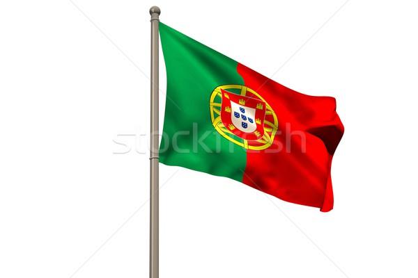 Digitaal gegenereerde Portugal vlag witte Stockfoto © wavebreak_media