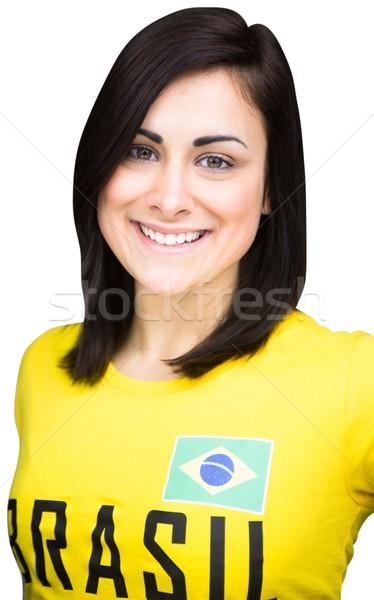 Güzel futbol fan tshirt beyaz Stok fotoğraf © wavebreak_media