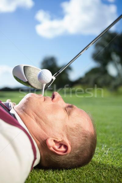 Golfista denti campo da golf erba Foto d'archivio © wavebreak_media