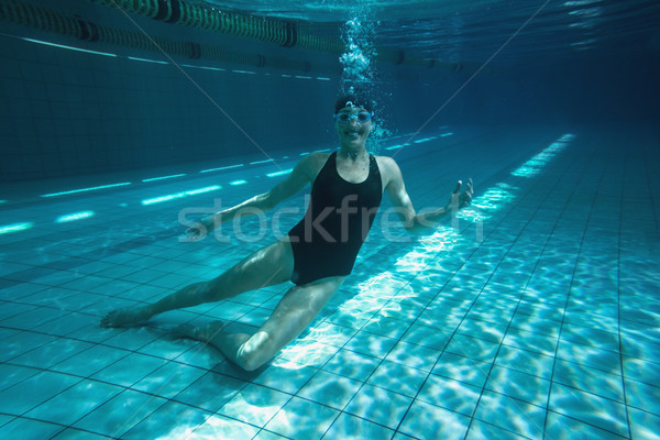 Pływak szkolenia własny basen wypoczynku Zdjęcia stock © wavebreak_media