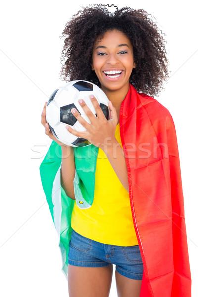 Bastante futebol ventilador Portugal bandeira Foto stock © wavebreak_media