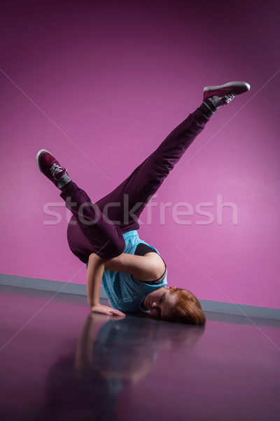 Pretty break dancer busting a move Stock photo © wavebreak_media