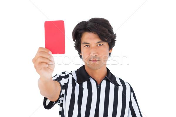 Popa árbitro vermelho cartão branco Foto stock © wavebreak_media