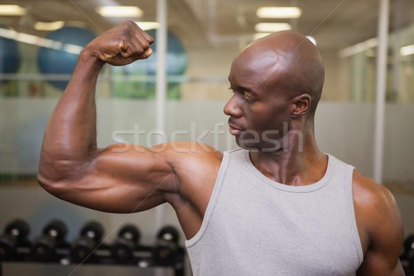 мышечный человека мышцы спортзал портрет здоровья Сток-фото © wavebreak_media