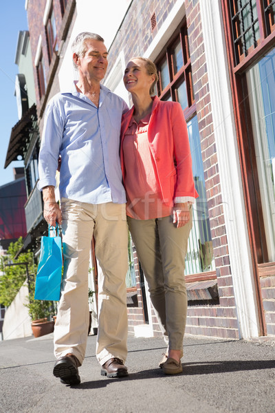 Happy senior couple shopping in the city Stock photo © wavebreak_media