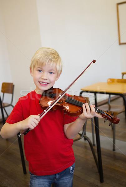 かわいい 演奏 バイオリン 教室 小学校 学校 ストックフォト © wavebreak_media