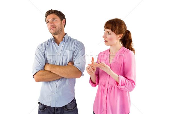 Woman arguing with uncaring man Stock photo © wavebreak_media