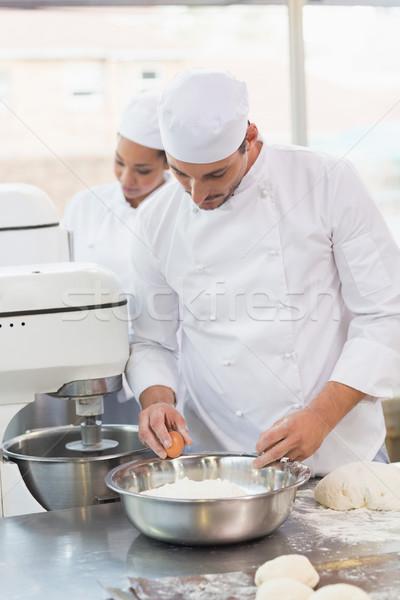 Fırıncı yumurta çanak mutfak fırın iş Stok fotoğraf © wavebreak_media