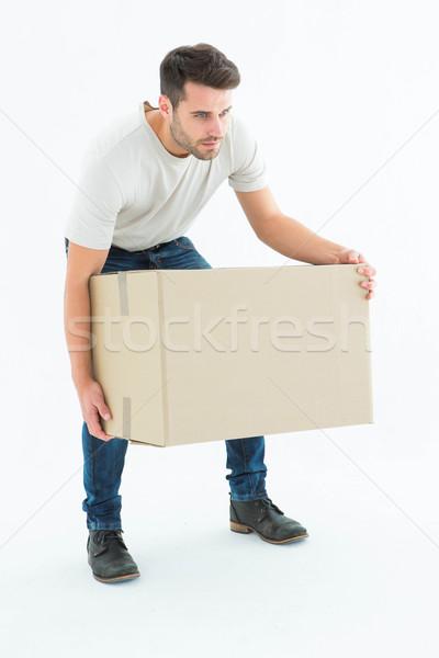 Kurier Mann Ernte up Karton Stock foto © wavebreak_media