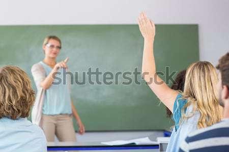 öğretmen öğretim Öğrenciler sınıf kadın okul Stok fotoğraf © wavebreak_media
