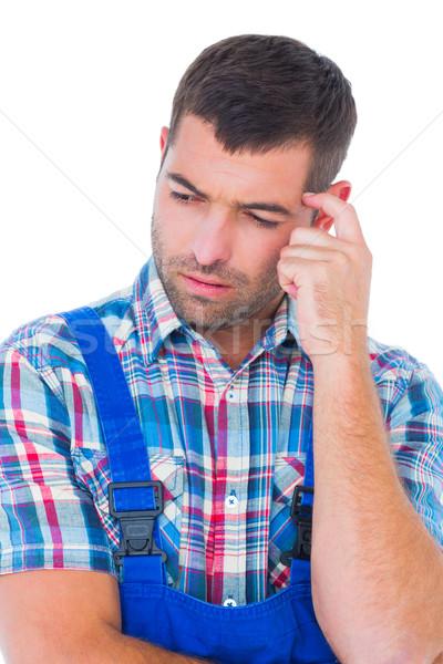 путать работник глядя вниз белый человека Сток-фото © wavebreak_media
