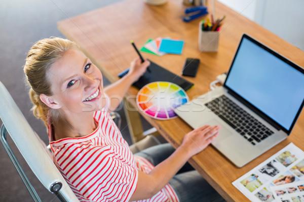 Projektant pracy kolor koła działalności kobieta Zdjęcia stock © wavebreak_media