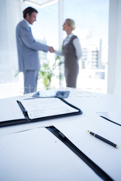Business partners shaking hand together Stock photo © wavebreak_media