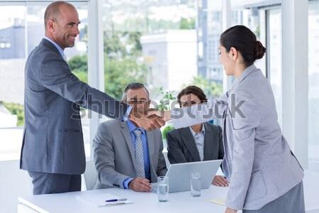 ビジネスマン 手 オフィス 男 幸せ ストックフォト © wavebreak_media