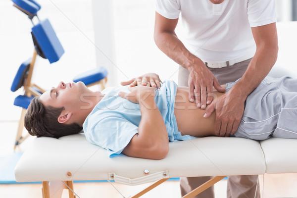 医師 調べる 患者 胃 医療 オフィス ストックフォト © wavebreak_media