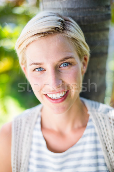 довольно улыбаясь камеры парка лет Сток-фото © wavebreak_media