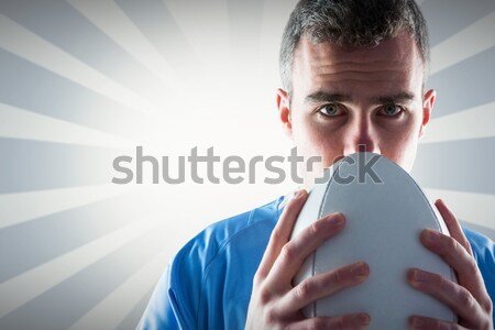Rugby gracz rugby ball portret poważny Zdjęcia stock © wavebreak_media