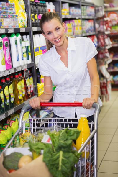 Nő vásárol termékek piac női életstílus Stock fotó © wavebreak_media